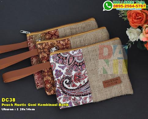 Pouch Rustic Goni Kombinasi Batik