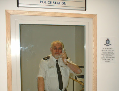The inquiry desk at Brigg police station - see Nigel Fisher's Brigg Blog