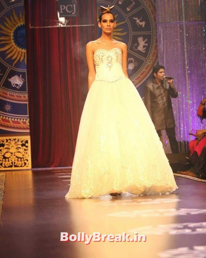 Sony Kaur, Sonam Kapoor Pics in White Saree - IIJW Finale 2014
