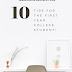 10 Tips For The First Year College Student
