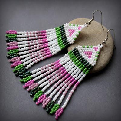 купить Необычные серьги ручной работы в этническом стиле