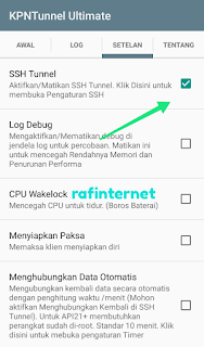 Cara setting kpn tunnel ultimate Axis reguler full speed dan fast connect