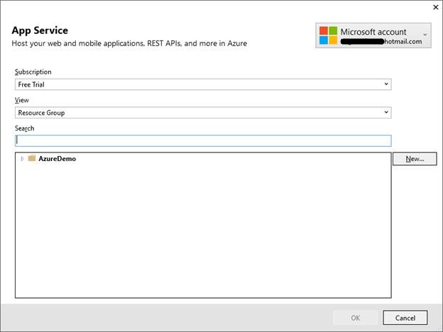 Publish web app to Cloud Azure Service
