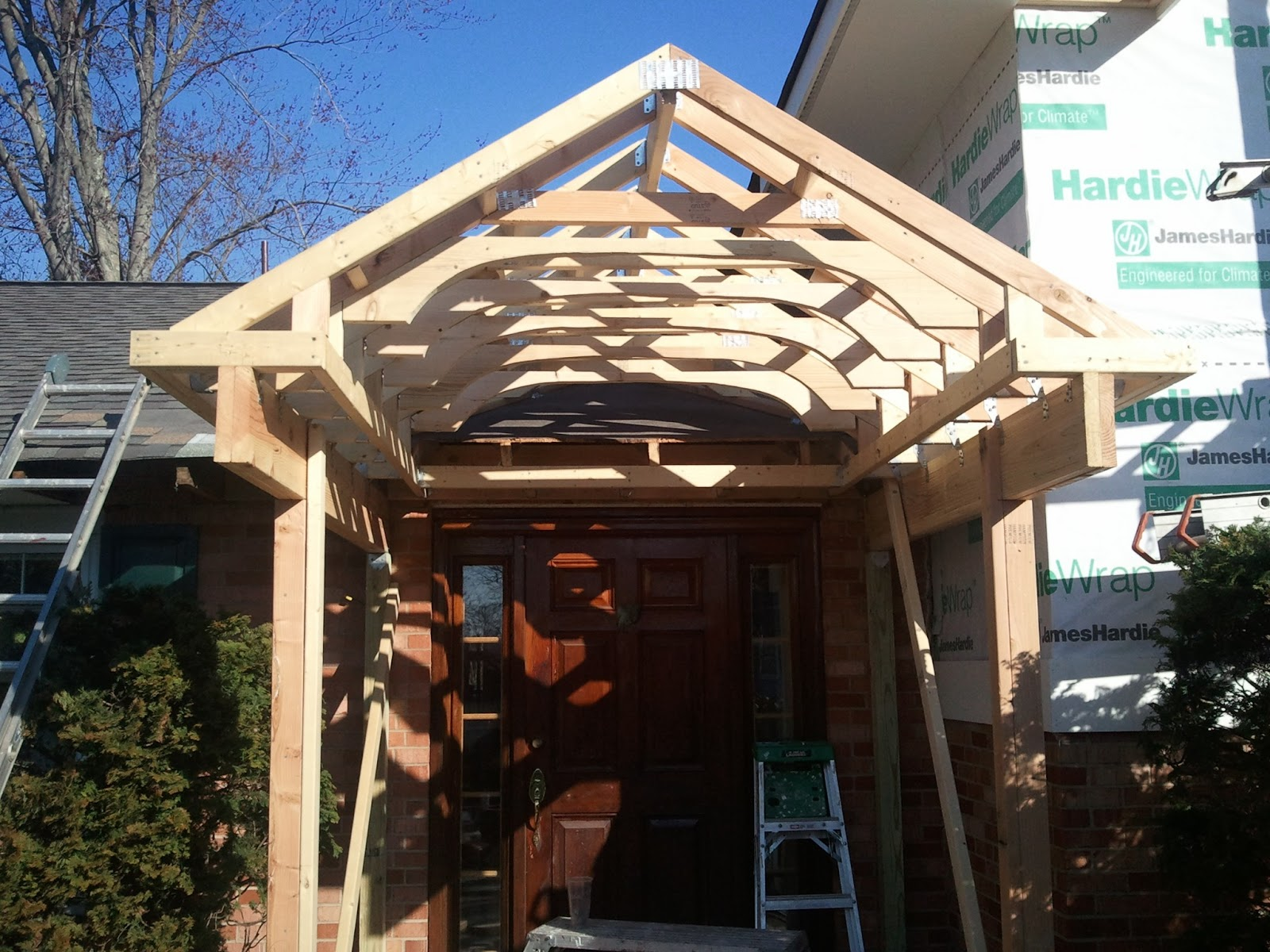 Simple Portico Plans Placement Home Building Plans 40790