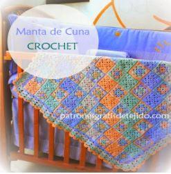 bella manta para cuna artesanal al crochet - tutorial completo