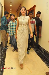 Actress Pragya Jaiswal Stills in Beautiful White Dress at turodu Audio Launch  0075.JPG