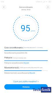 Xiaomi Mi Electric Toothbrush dane szczotkowania w aplikacji Mi Home