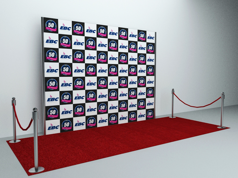 Anees Joya Works Small Event 3D Stage Design amp Media Wall