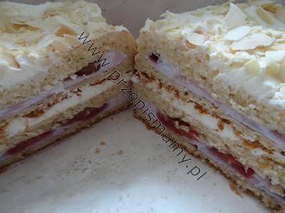 Ciasto a`la francuskie z czereśniami