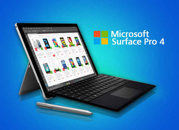 microsoft surface pro 4 tablet multifungsi