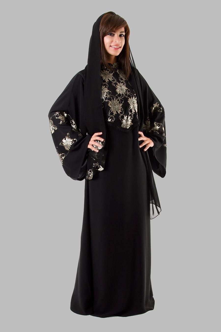 Embroidered Abaya Designs 2013 | Islamic Abaya Dress ...