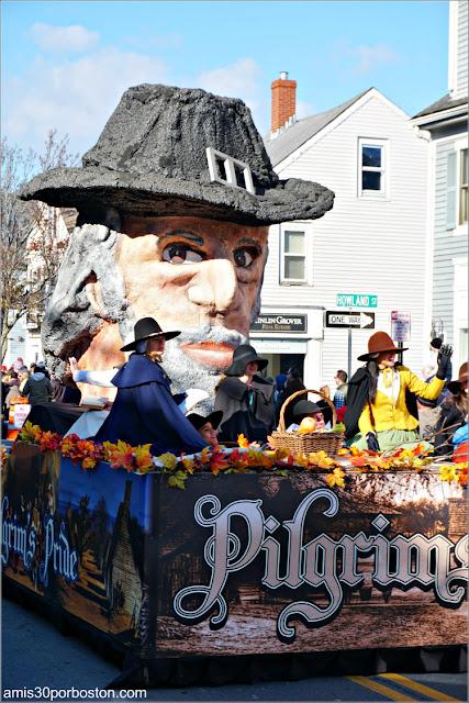 Peregrino en el Desfile de Acción de Gracias de Plymouth