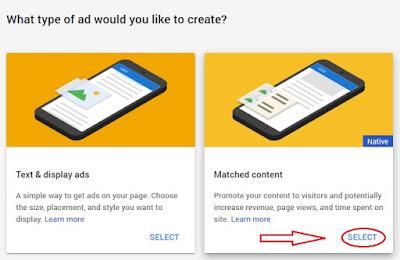 Iklan Matched Content Dari Google Adsense