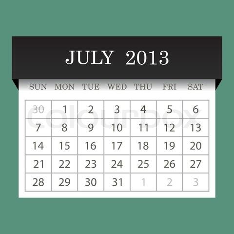 Calendar 2013 February vector image.