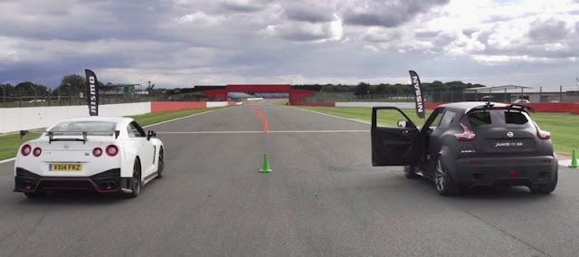 どっちが速い?「ジュークR 2.0」と「GT-R NISMO」の加速対決!