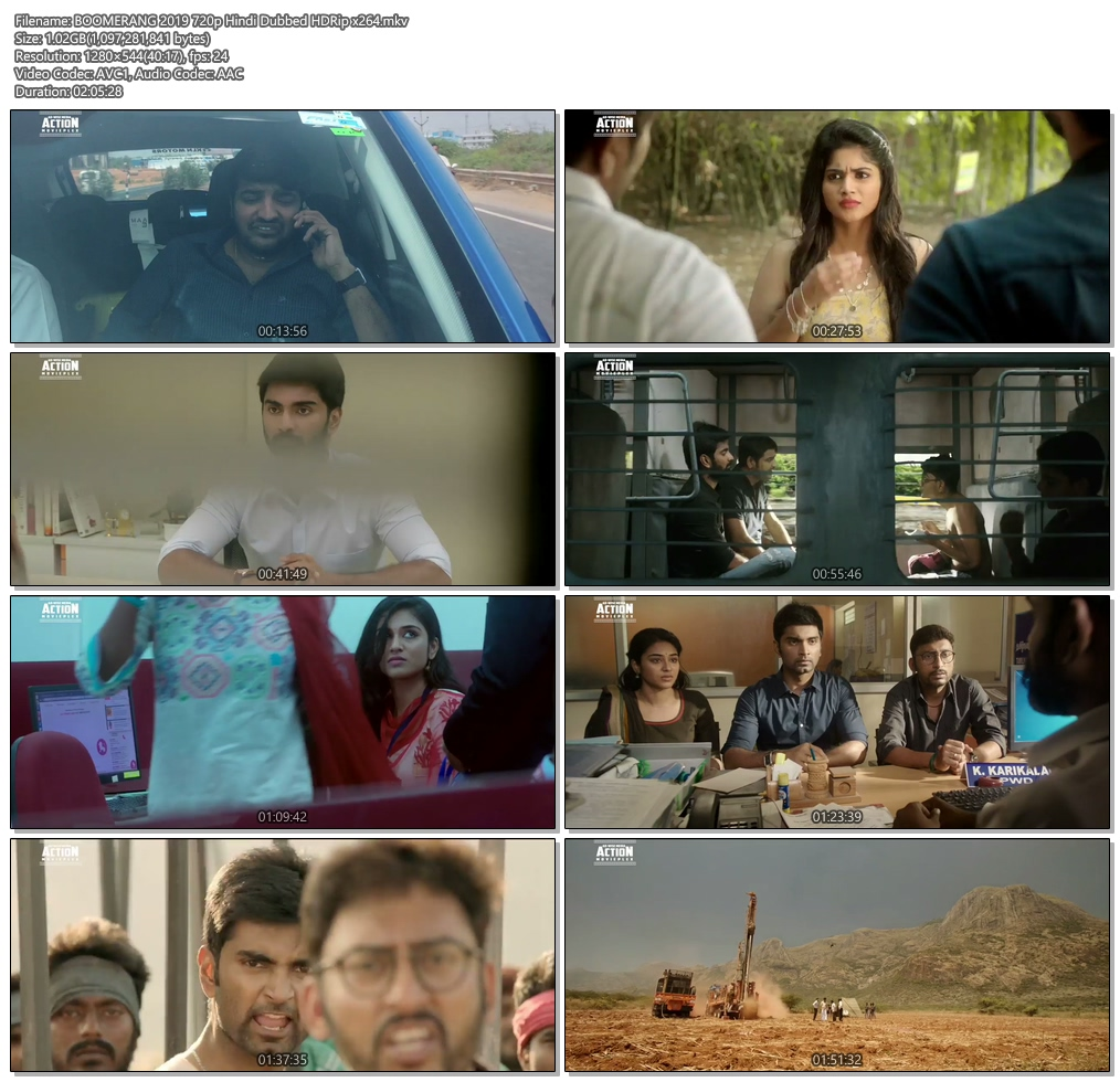 BOOMERANG 2019 720p Hindi Dubbed HDRip x264 | 480p 300MB | 100MB HEVC Screenshot