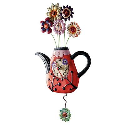 Küchenuhr Landhausstil Teapot