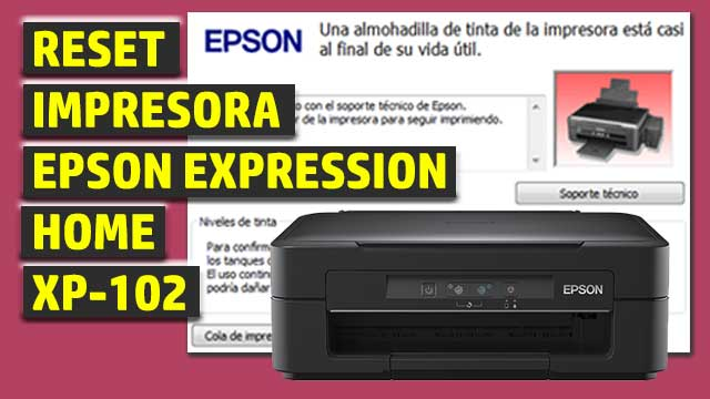 Reset impresora EPSON Expression Home XP-102