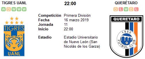 Tigres UANL vs Querétaro en VIVO