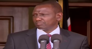 Deputy president William Ruto in a Past evnt in his house.