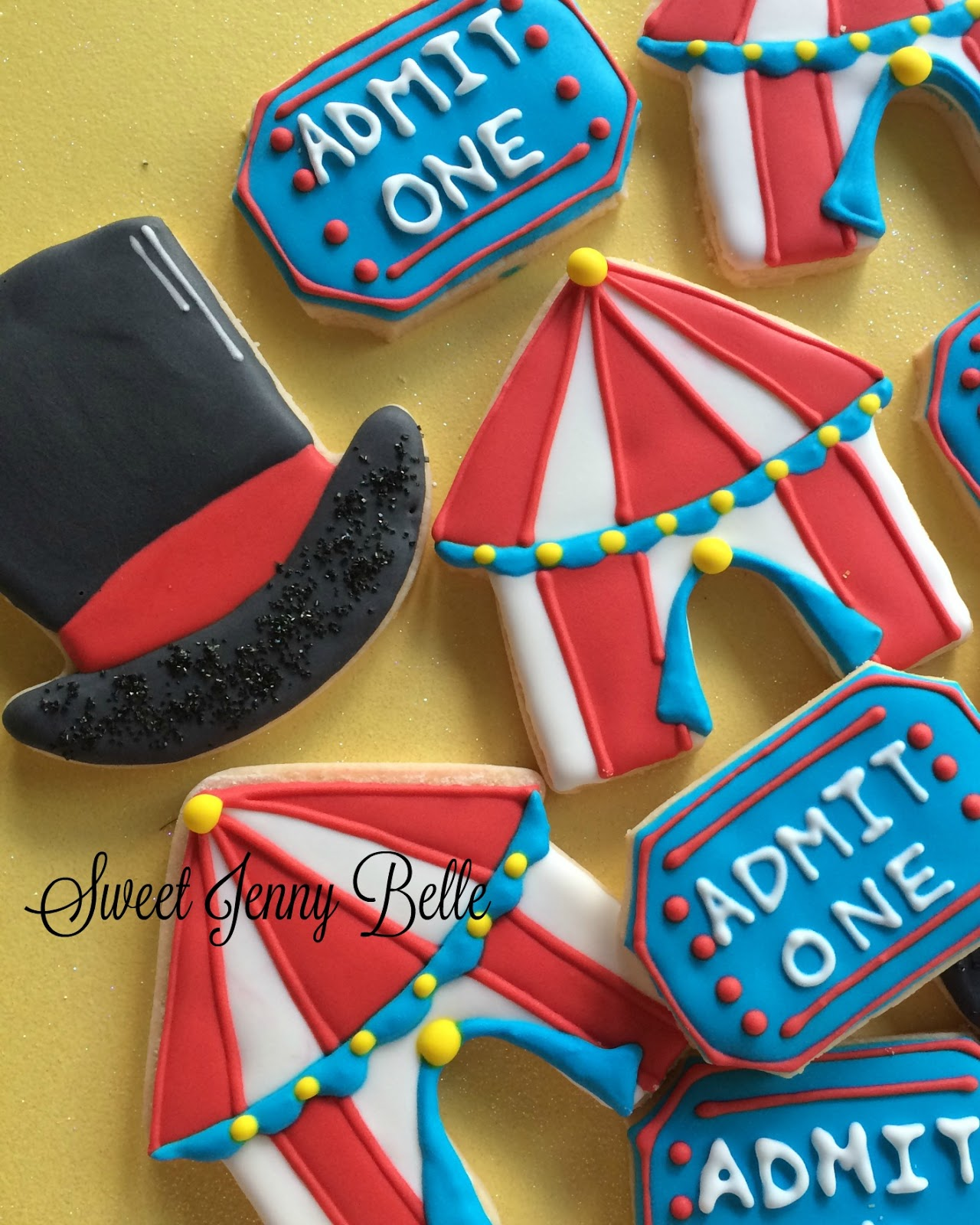 Confection Connection - Circus Tent and Ticket Cookie Tutorial  sc 1 st  Sweet Jenny Belle & June 2016 | Sweet Jenny Belle - easy sugar cookie decorating ...