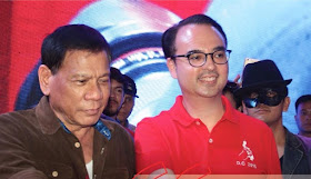 Davao City Mayor Rodrigo Duterte and Senator Alan Peter Cayetano