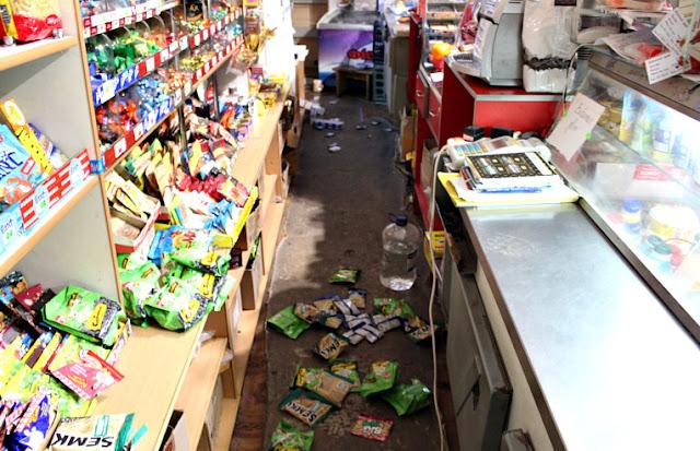 На Буковині єноти влаштували погром в магазині