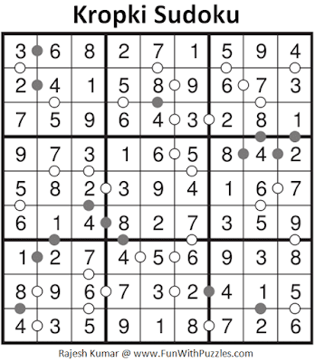 Answer of Kropki Sudoku Puzzle  (Fun With Sudoku #352)