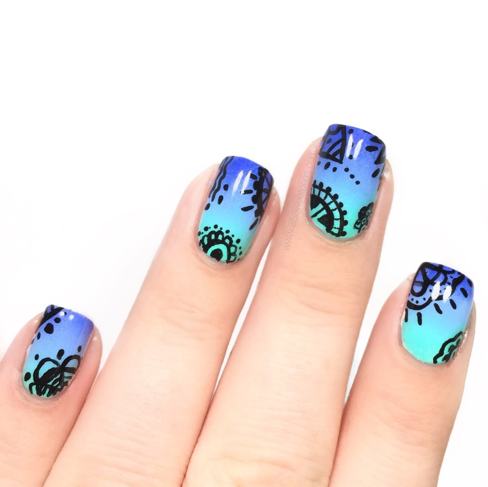 Gradation nails