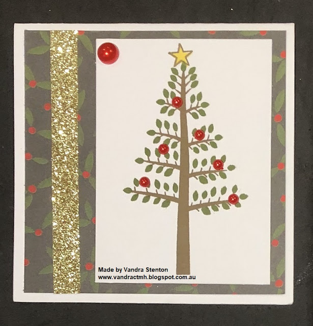 #CTMHVandra, #CTMHTisTheSeason, Christmas, trees, pearls, Christmas tree, gift card, gifts, 4x4, Stamp of the Month, SOTM, stamping,
