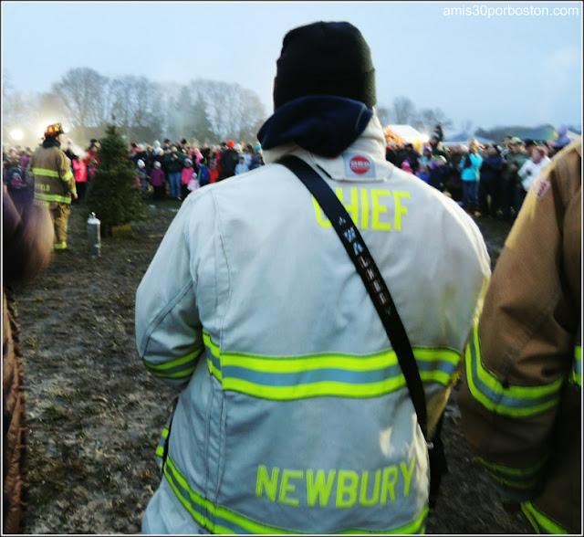 Demostración Bomberos: Old Newbury Bonfire