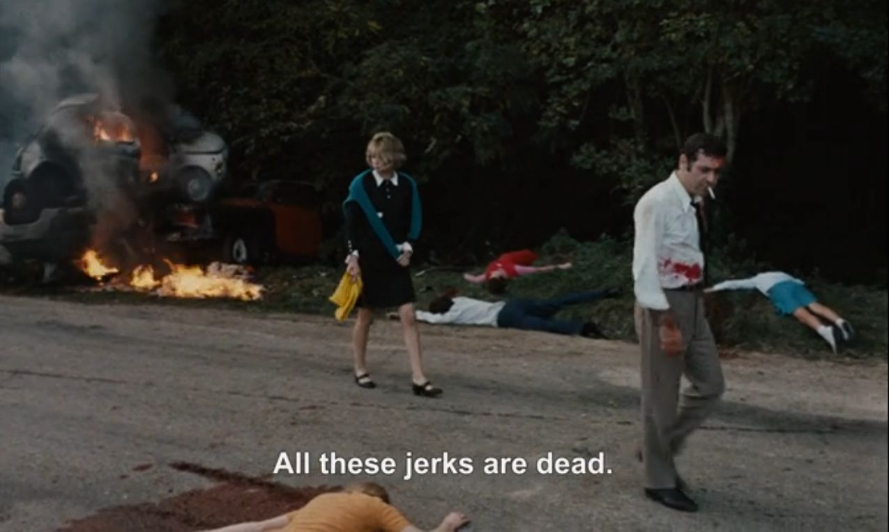 Jean-luc godard weekend essay