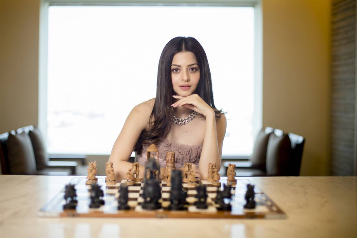 Indian Movie Actress Vedhika Photoshoot In Pink Gown