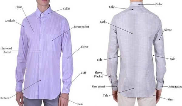 Parts of basic shirt