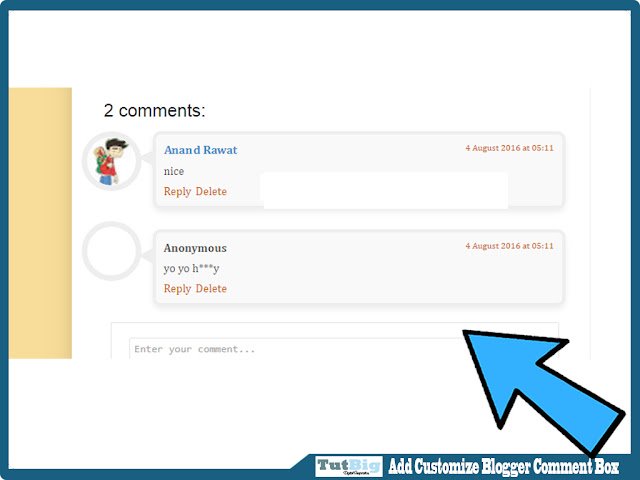 How to Add Customize Blogger Comment Box