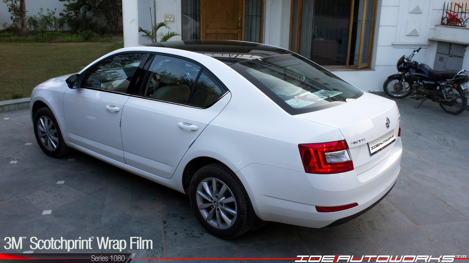 New Skoda Octavia 3m 1080 Scotchprint Roof Wrap Ide