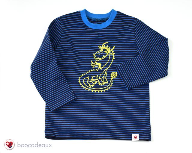 Plotterliebe - Basicshirt mit Drache aus der Plotterdatei Wikingerleben von Susalabim