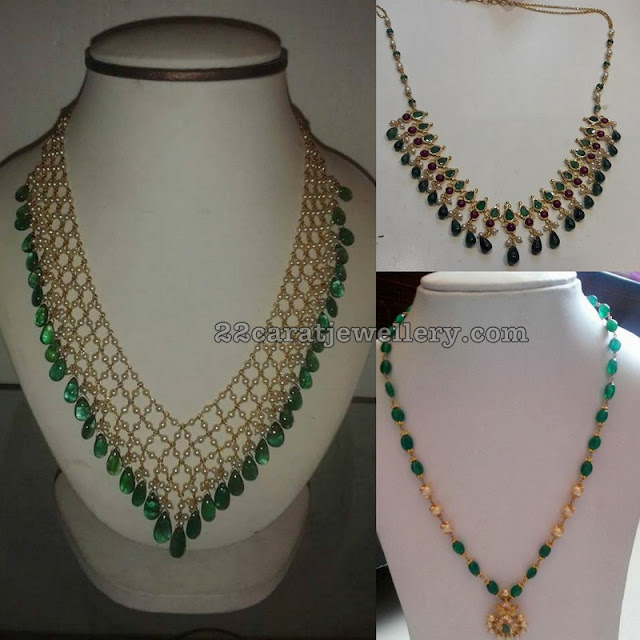 Simple Beads Drops Necklaces