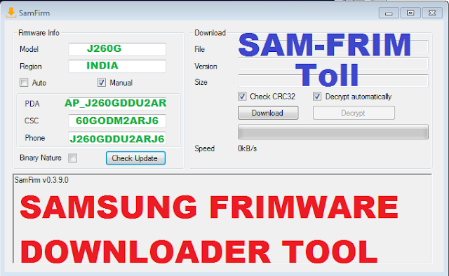SamFirm 0.3.6.0 Free Download for Windows 10, 8 and 7 2019
