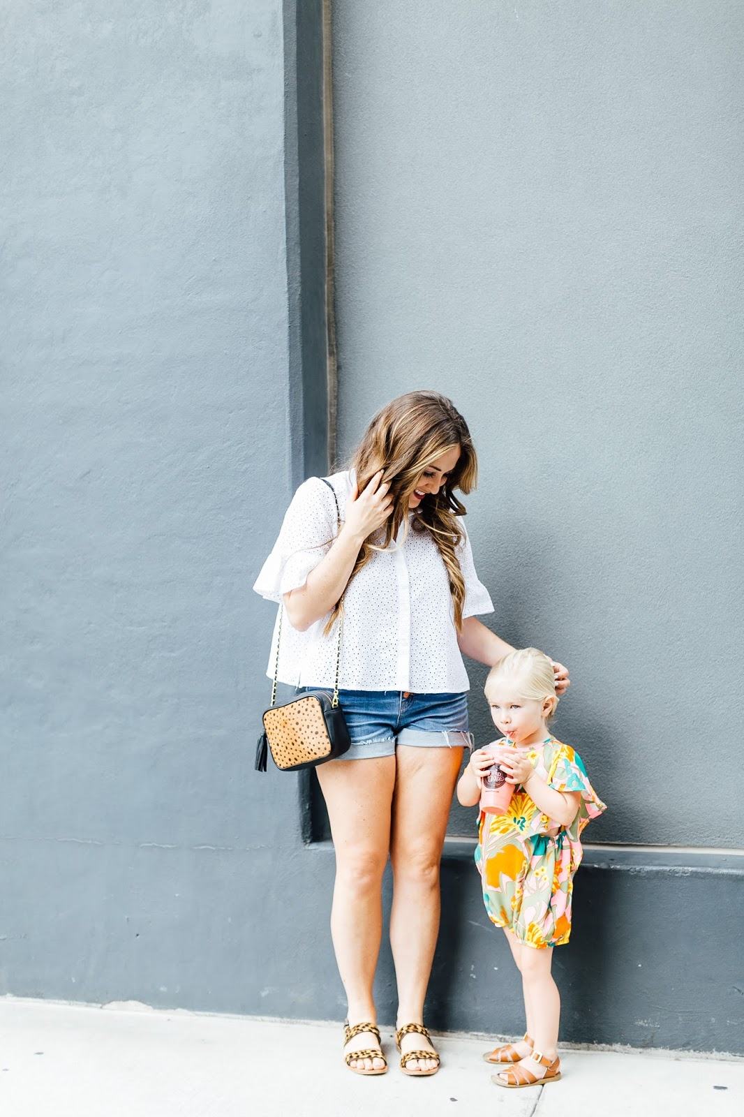 Mamas & Minis Collective - Living in Summer Rompers by fashion blogger Laura of Walking in Memphis in High Heels