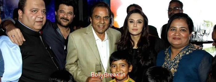 Kishor Dhingra, Aakash Dhingra, Anil Kapoor, Dharmendra, Preity Zinta, Pooja Dhingra, Hot HD Images of Priety Zinta at Aakash Dingra's 7th Birthday Bash