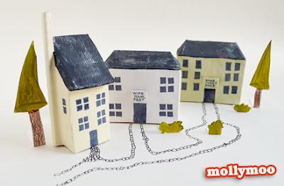 Construir en Papel Origami. Una ciudad, pueblo, o granja