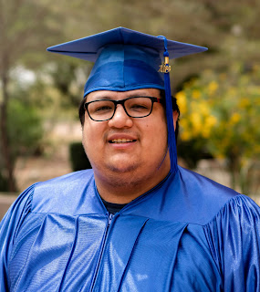 Photo of Cuevas in cap and gown at Rio Salado Tempe