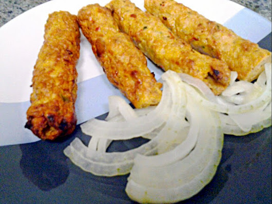 Chicken Cheese kebabs
