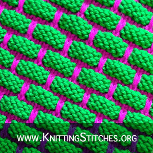 2-COLOR BRICK Stitch Pattern | Easy Stranded Colorwork, texture is great for cleaning.