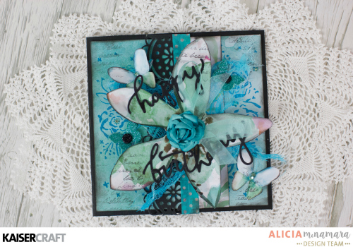 Kaisercraft Wildflower Card by Alicia McNamara
