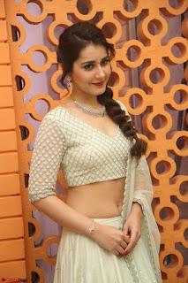 Raashi Khanan looks stunning in Crop Top Deep neck Choli Ghagra Transparent Chunni WOW ~  Exclusive Celebrities Galleries 034.JPG