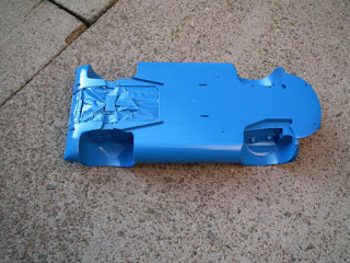Finished under floor painted blue of Porche 910