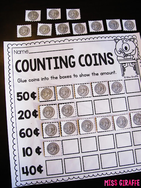 Counting dimes and other fun counting money activities for kids that are so fun and hands on