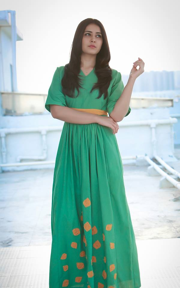 Rashi Khanna Photoshoot Photos In Green Dress